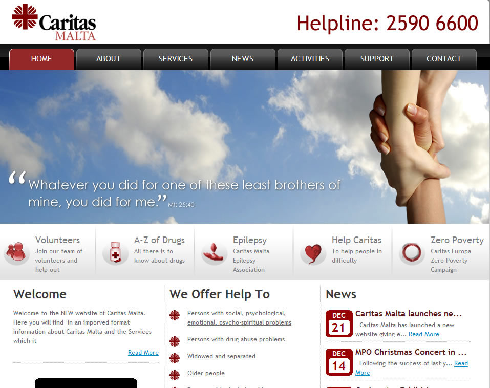 Caritas Launches new website